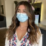 face frame foilyage to give balayage effect on dark hair