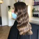 foilyage to give balayage look on darker hair